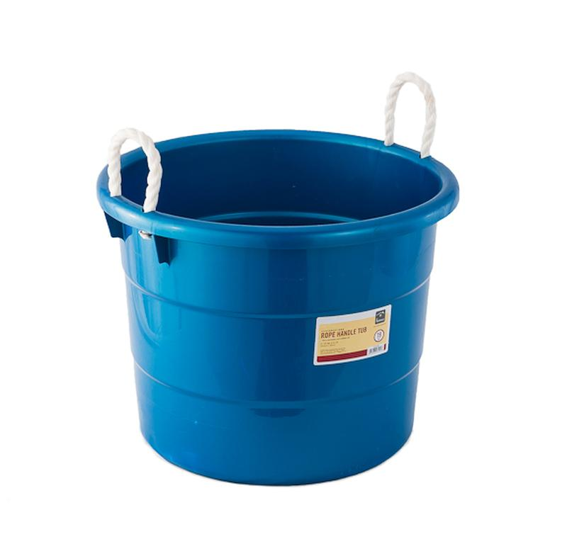 19 gal plastic tub with rope handles event banquet reception rental ultimate events. Black Bedroom Furniture Sets. Home Design Ideas