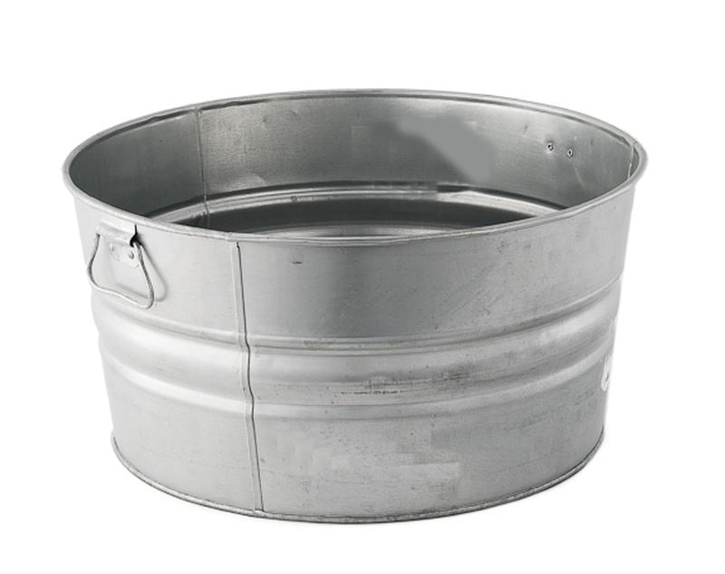 10 Gal Galvanized Steel Tub Event Banquet Reception