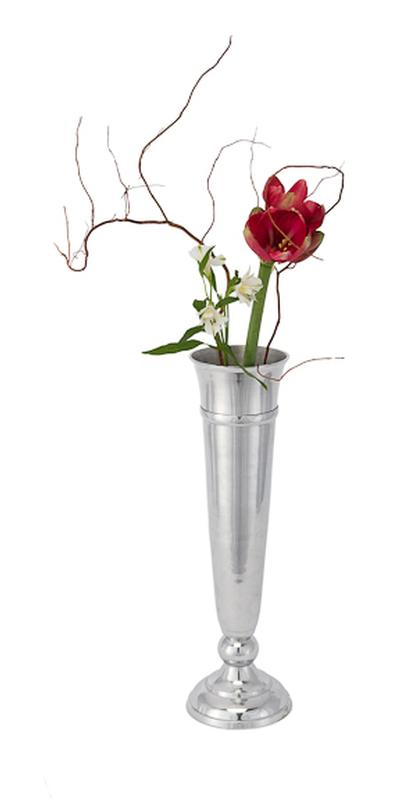 25 Inch Tall High Polish Metal Vase Rental Table Accessories