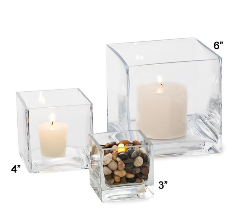 4 Inch Square Glass Vase Rental Table Accessories Ultimate Events