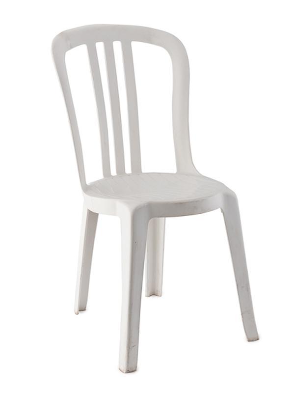 Superieur White Plastic Bistro Chair