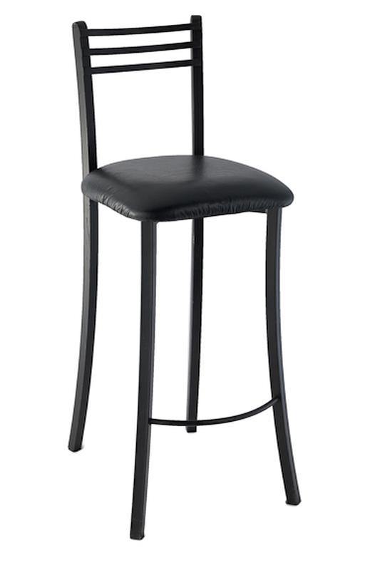 Black Padded Bar Stool With Back Rental Reception Party
