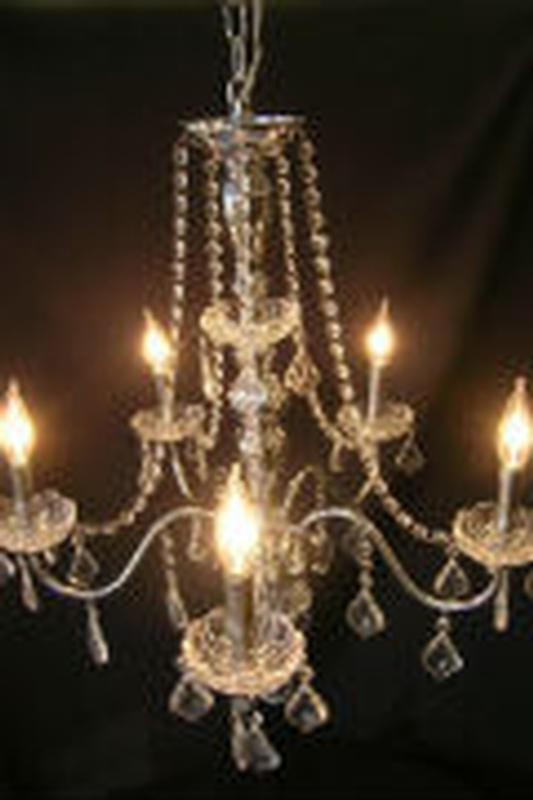 Crystal chandelier event banquet wedding party ultimate events crystal chandelier w chrome aloadofball Image collections