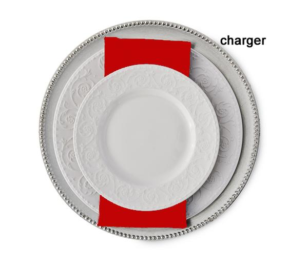 13  Silver Acrylic Beaded Charger Plate  sc 1 st  Ultimate Events & Wedding Plate Chargers | Dinner Plate Chargers | Ultimate Events