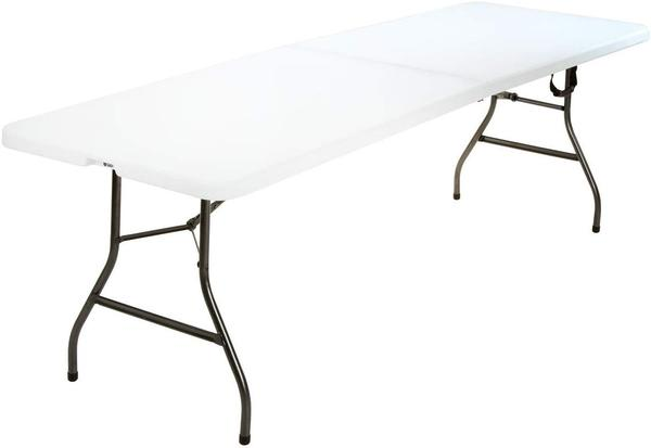 8' plastic folding table - A