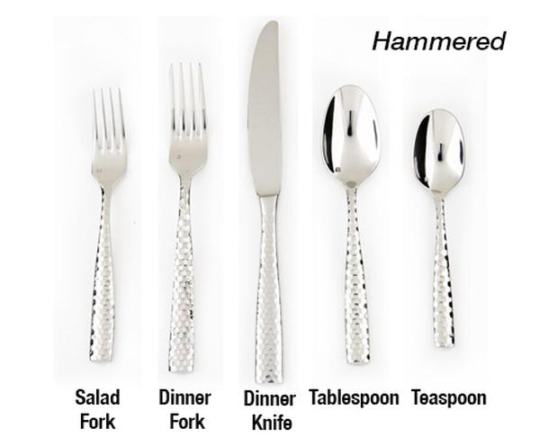 Hammered Stainless Steel Flatware