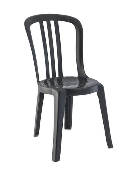 Superieur Black Plastic Bistro Chair