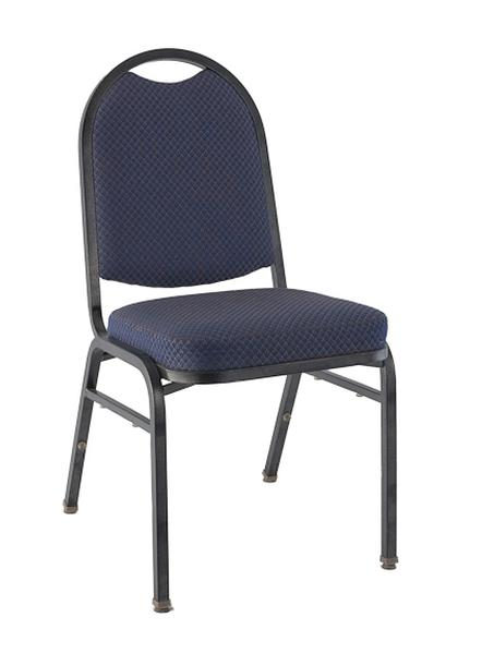 Plum Padded Stacking Chair