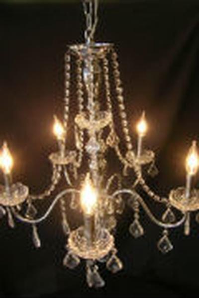 Crystal chandelier w chrome